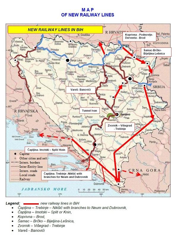 Bosnia And Herzegovina Railways Public Corporation Gallery - Bosnia and herzegovina interactive map